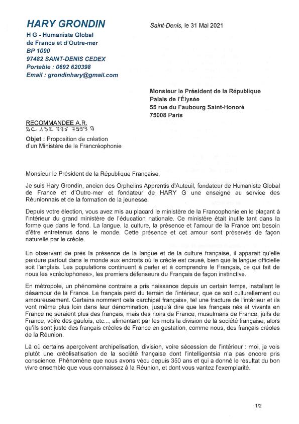 La Francréophonie page 1